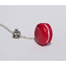 Collier The Queen [Cerise] | Chez Laurette | Macaron | Fait main