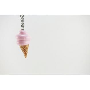 Collier - Cornet crème molle rose pâle | mini