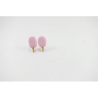 Boucles d'oreille, clou - Popsicle rose pâle