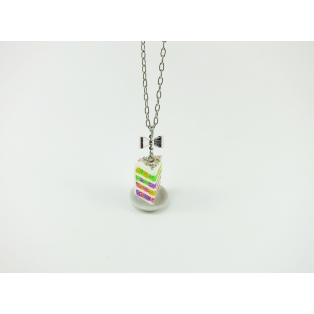 Collier - Part de Rainbow Cake damé