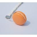 Collier Le macaron et la tresse [Melon - Coco] | Chez Laurette | Macaron | Fait main