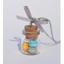Collier Fiole de Macarons d'Eté | Chez Laurette | Macarons [ Fait main
