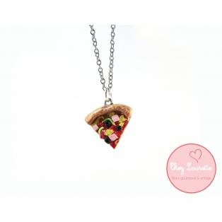 MINI - Collier pointe de Pizza (court) special pour les BFFs | Chez Laurette