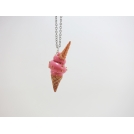 Collier - LICORNET | crème molle rose | Court | Chez Laurette (mini)