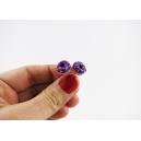 Boucles d'oreille, clou Donuts - Ultra Violet