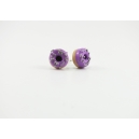 Boucles d'oreille, clou Donuts - Mauve