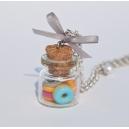 Collier Fiole de Donuts d'Été | Chez Laurette | Donuts | Fait main