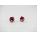 Boucles d'oreille, clou Donuts - Rose foncé / Multicolore en acier inoxydable  | Chez Laurette