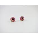 Boucles d'oreille, clou Donuts - Rose / Multicolore en acier inoxydable  | Chez Laurette