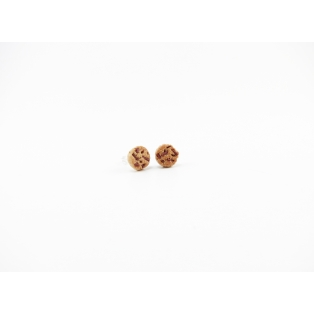 Boucles d'oreille, clou cookies au chocolat miniatures - Chez Laurette