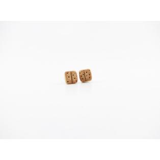 Boucles d'oreille, clou Biscuits natures miniatures - Chez Laurette