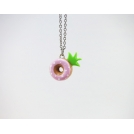 Collier - Beigne Ananas rose ultra pâle | Mini | Chez Laurette