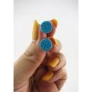 Boucles d'oreille, mini biscuits oréo (Bleu) | Chez Laurette