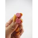 Boucles d'oreille, mini biscuits oréo (Rose) | Chez Laurette