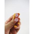 Boucles d'oreille, mini biscuits oréo (Rose ultra clair) | Chez Laurette