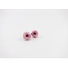 Boucles d'oreille, clou Beigne - rose ultra pâle & quartz rose | Chez Laurette