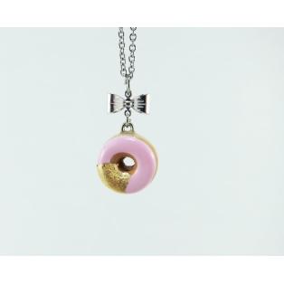 Collier - Beigne rose ultra pâle & feuille d'or | Mini | Chez Laurette