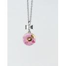 Collier - Beigne rose ultra pâle, feuille d'or et quartz rose | Mini | Chez Laurette