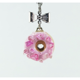Collier - Beigne rose ultra pâle& quartz rose   Mini   Chez Laurette