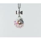 Collier - Beigne Blanc, feuille d'argent et quartz rose | Mini | Chez Laurette