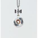 Collier - Beigne Blanc & feuilles d'argent | Mini | Chez Laurette