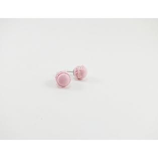 Puces d'oreille, macarons   rose ultra pâle