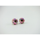 Boucles d'oreille, clou Donuts - Rose ultra pâle / Funfettis Multicolore en acier inoxydable | Chez Laurette