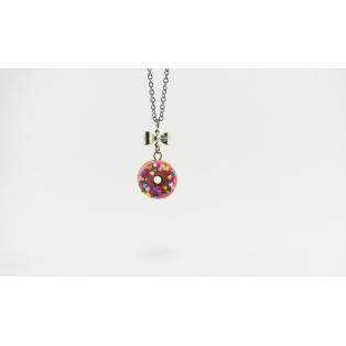 Collier - Beigne ROSE et multicolore (mini) | Chez Laurette