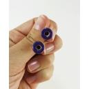 Boucles d'oreille, clou Donuts d'Halloween - Violet | Acier inoxydable | Chez Laurette