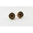 Boucles d'oreille, clou Donuts d'Halloween - Chocolat en acier inoxydable | Chez Laurette