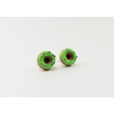 Boucles d'oreille, clou Donuts d'Halloween - Verts à yeux | Acier inoxydable | Chez Laurette