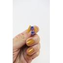 Format miniature | Boucles d'oreille, clou Donuts d'Halloween - mauve à yeux | Acier inoxydable | Chez Laurette