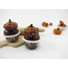 Boucles d'oreille - Cupcakes à la citrouille (pendantes)