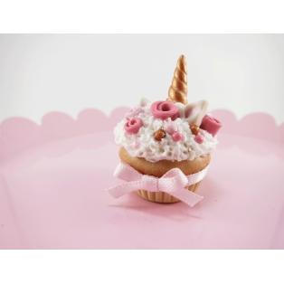 Collier Cupcake Licorne et roses | Chez Laurette