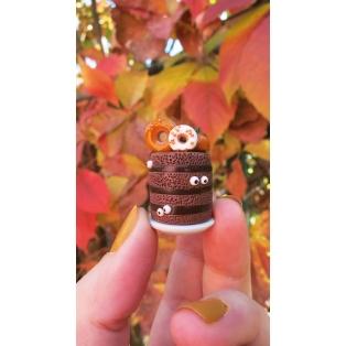 Collier - (MAXI) Gâteau Action de grâce/Halloween | Pièce unique