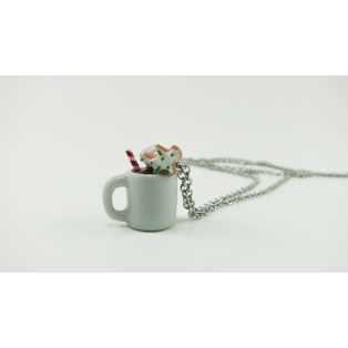 Collier sautoir - Tasse de Noël toute garnie | MAXI