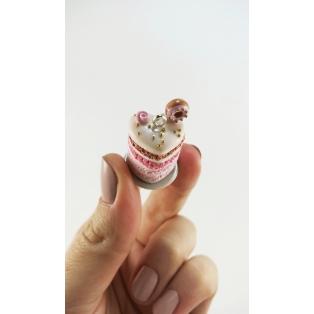 Collier - Gâteau étagé en forme de cœur, rose & or | MAXI | Chez Laurette