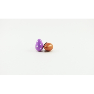 Puces d'oreille, coco de Pâques | Mauve/picoté - Doré