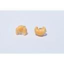 Boucles d'oreille Mes petits croissants chauds   Chez Laurette   Croissants   Fait main