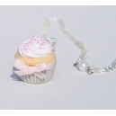 Collier Cupcake Citron - Fraise | Chez Laurette | Cupcake | fait main